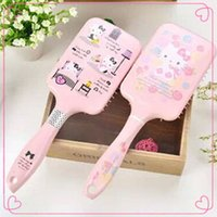 Wholesale 2014NEW Hello Kitty Plastic Brush Comb Hair Care Spa Scalp Massage Anti static Comb Hair Styling Handheld Tool Brand New Pink style Sold by