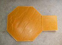 Wholesale Floor ground wall plastic mold embossed printing Park squaresurface decoration cobblestone furnish Polyurethane mold polyurethane product
