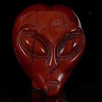 alien beings - 2 quot Natural Red Jasper Alien Skull Carving Star Being Head H34 red jasper skull for gifts