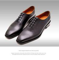 basic knotted - GRIMENTIN Italian luxury designer formal mens dress shoes genuine leather black basic flats for men wedding office size
