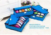 Wholesale 3 set foldable non woven fabrics organizer storage box set underwear box for bra underwear tie socks