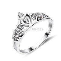 Anillos de plata Baratos-Al por menor al por mayor para 100% por completo 925 anillo de la corona de plata esterlina, 925 anillo de plata, anillo de los Enamorados (GNJ0047)