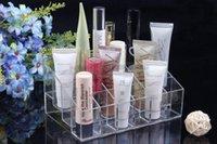Wholesale New Cells Lipstick Showing Holder Makeup Cosmetic Trapezoid Display Storage box Storage Holders Finishing box