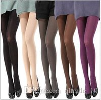 adult ballet tights - 1000 TOPB4452 candy color women fashion Stretch Velvet Tights Socks Stocking slim Pantyhose adult Ballet dance wear leggings leg warmers