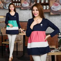 Wholesale 804 Maternity Cotton Solid color Plus size T shirt Maternity blouse Women clothing For pregnant Spring Autumn Fashion Top