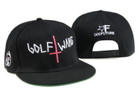 golf wang hat - New fashion odd Future Golf Wang Snapback letter baseball caps Black hats for men and women hip hop hiphop bboy cap TY
