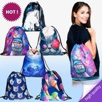 aztec print backpack - new fashion aztec women backpack female d print travel fashion bag feminina harajuku drawstring bag unisex backpacks