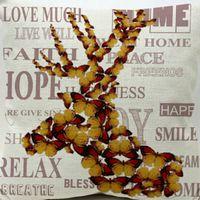 antler case - New Deer Antlers Home Cotton Linen Pillow Case on Waist Throw