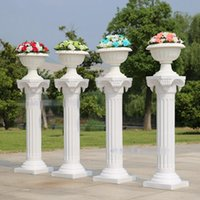 plastic columns - With thick plastic european style wedding Roman column road lead frame opening ceremony wedding arrangement runway style