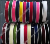 Wholesale 125yards mm nylon velvet ribbon None Elastic single faced webbing velvet ribbons spool DIY accessories colors drop shipping