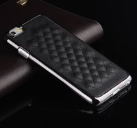 apple sheeps - Deluxe Luxury Vintage Retro Silver Edge Sheep Leather Hard Back Case Chrome Snap Hard Cover Case For iPhone S Plus inch