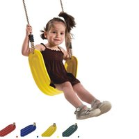 kids plastic chair - New Outdoor Sport Kids Child Swing Seat Plastic Hanging Chair Casual Indoor Baby Rocking Chair Toys VE0040 salebags