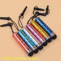 Wholesale 5000pcs Colorful Universal Mini Stylus Touch Screen Pen With Anti Dust Plug For Samsung Blackberry Capacitance Screen Phone Table pc DB