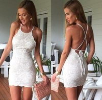 beach works clothing - 2015 Summer beach Dress New Arrival Woman Clothing Vestidos Solid white sleeveless O neck Fashion Designs mini Embroidery Dress