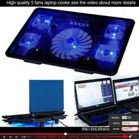 Wholesale New Fan USB Laptop Cooler Cooling Pad Base Notebook Cooler Computer USB Fan Stand For Laptop PC Strengthen Edition Video T0011