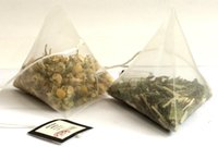 string labels - cm Pyramid Tea Bags Filters Nylon TeaBag Single String With Label Transparent Empty Tea Bags