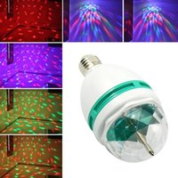 balls shocks - 20pcs FEDEX free W RGB DJ Stage Lighting Bulb Disco Crystal Ball E27 Base RGB LED lamp christmas lights High impact and shock resistance