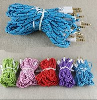 audio pa - 3 mm Audio AUX Car Extention Cable Braided Woven wire Auxiliary Stereo Jack Male m ft Lead For Phones Speakers PA