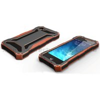 Aluminum gundam - Orange Color Gundam II Aluminum Case Silicon Shockproof Waterproof Cell Phone Cases for iPhone S