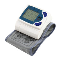 Wholesale Digital Wrist Blood Pressure Monitor Heart Beat Meter Machine LCD Screen Home Necessity Hot
