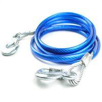 Wholesale high quality plastic coated steel wire meters trailer rope pull rope steel hook t