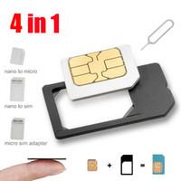 Wholesale Promotional Noosy in SIM Slot for iPhone S Plus S Samsung Xiaomi Nano Mini Micro Standard SIM Card Adapter