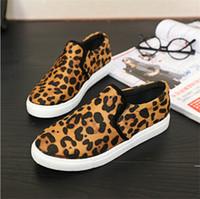 women rubber flat shoes - 2015 Fashion Shoes Women New Black Leopard Casual Flat Comfortable Women Shoes Slip on Cotton Rubber Drive Shopping Women Sneakers