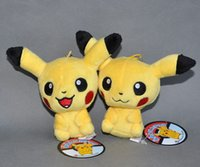 Wholesale EMS Styles New Pikachu Plush Doll Clip Plush Soft Fashion Keychain quot For Best Gift