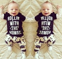 bear coats - 2016 Toddler Boys Girls letter T shirt bear Pants Leggings Two piece Outfits Set Clothes UK