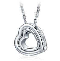 Wholesale Qianser Genuine Swarovski Elements Crystal Pendant Heart Necklace For Women Accessories Jewelry