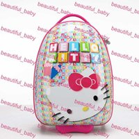 Wholesale Hot Sale Fashion Children School Bags Pull Rod With Wheels Bags Cartoon Kids Outdoor Recreation Backpack Bags cm