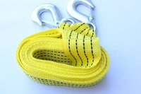 Wholesale 3M Ton Car Vehicle Boat Tow Strap Towing Rope Hauling Cable String With Hooks hauling cable