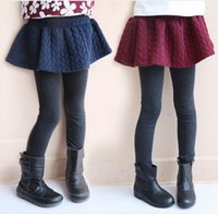 best tights for winter - best selling new Warmth Girl Leggings for Dress Crochet Embossed Pantskirt Warm Cotton Children Kids Clothes Cotton Tights Girl Red Blue
