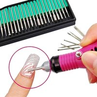 Wholesale 30pcs set Nail Art Electric File Drill Bits Polish Grinding Head Replacement Manicure Pedicure Kit Set Tool BZ602138