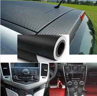 Wholesale 2015 DIY Carbon Fiber Wrap Roll Sticker for Car Auto Vehic Mx30cm Freeship