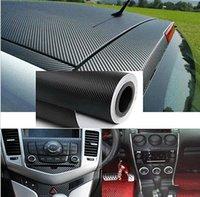 achat en gros de carbon sticker for car-2015 DIY Fibre de Carbone Wrap Rouleau autocollant pour la voiture Auto vehic 1.27Mx30cm Freeship