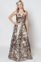 Wholesale Strapless Halter Dress - Fashionable 2015 Wedding Dresses Camo Halter Draped Wedding Dress A Line Camouflage Bride Dresses Backless Custom Made SX352