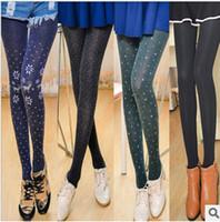 Wholesale Mix Color Winter Girls Pants Legging Flower Leggings Velvet Thickening Leggings Warm Tights M1754