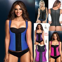 Wholesale Latex corset Women Sexy Underust Bustier Waist Cincher Training Corsets Ann Chery SAME STYLE Corsets with shoulder girdle DHL