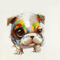 animal eyes pictures - Lovely Dog with Big Eyes Hand painted Oil Painting on Canvas Animal Picture Mural Art for Home Living Bedroom Wall Drcoration
