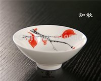 Wholesale limited fine bone china painting tea cups ceramic kung fu set service porcelain drinkware cup special offer