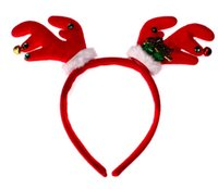 Barrettes antler hair accessory - NEW Children s Hair Accessories Kids Christmas Antler Hairbands for girl performance headwear hair accessories HH34