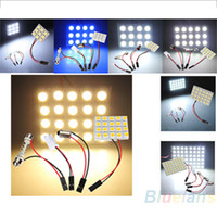 Wholesale 9 LED SMD Car Interior Reading Doom Light Panel T10 Festoon BA9S Adapter Replacement Parts CS
