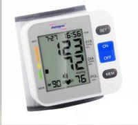Wholesale digital Wrist Type Blood Pressure Monitors JPD W Heart Beat Meter Sphygmomanometer Prevent Hypertension