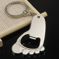 babies key chain - 2016 Personalized Design Foot Bottle Opener Fashion Alloy Keychain Key Chain Ring For Wedding Gift Baby Shower Favor Supplies