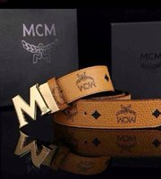 Wholesale New listing MCM Belts fashion High quality leather Men belt luxury brand Logo belt for Women box