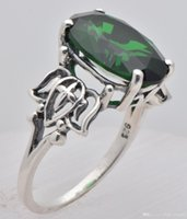 emerald ring - Mood rings many ai great magic sterling silver ring ring jewelry Fashionable emerald Creative ring lovers love gift