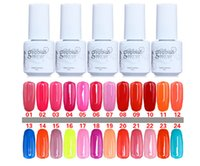 Wholesale 10PCS Gelish Nail Polish UV Gel Soak Off Gel Polish Nail Lacquer Varnish Brand New Top Quality Long lasting Colors Color ml