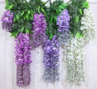 Wholesale 2015 Home And Garden Artificial Silk Flower Wisteria Vine Rattan For Wedding Centerpieces Decorations CM A Package Of Pieces