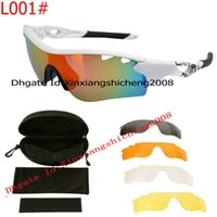 Wholesale Free Shiping sunglass new Men s Sports White Frame Black Rubber Sunglasses Sport eyewear colors Lens with box